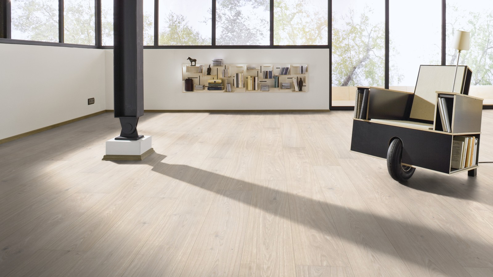 Meister Parkett Wideplank white oak lively 8594